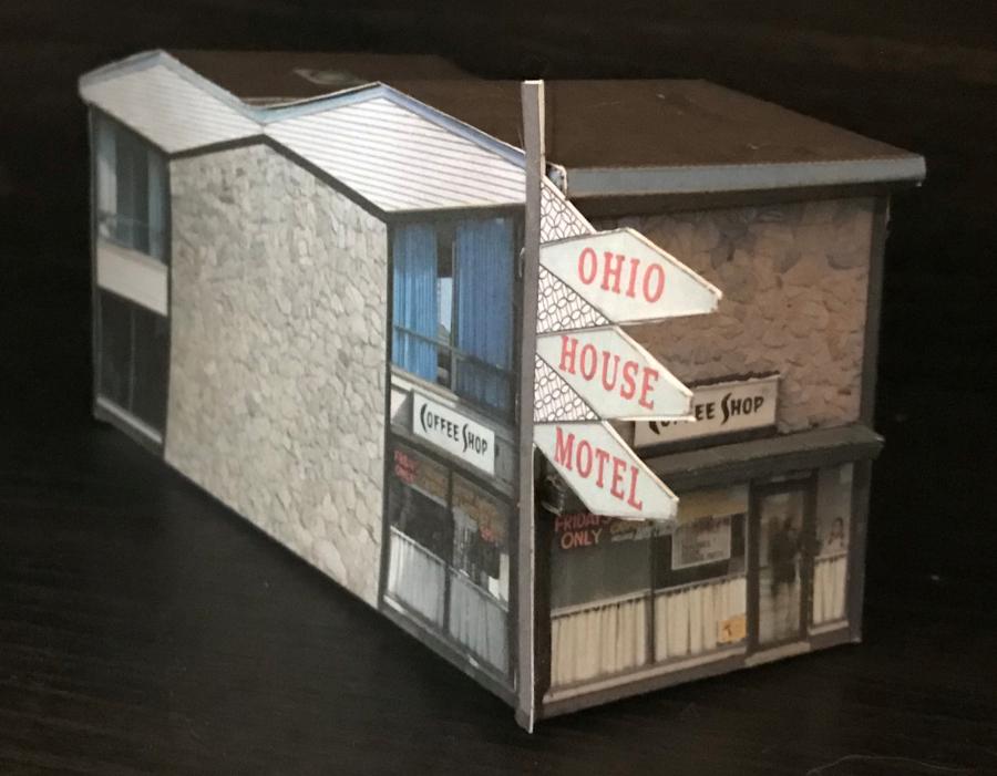 Make your own Free Printable Ohio House Motel 3D Model