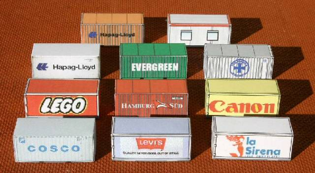 Free printable HO Scale Shipping containers & cargo containers for ...