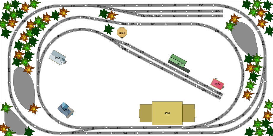 4X8 HO Train Layout - Bing images